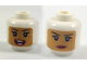 Part No: 3626cpb1944  Name: Minifigure, Head Dual Sided Female Balaclava with Medium Dark Flesh Face, Beauty Mark, Open Mouth Smile / Neutral Pattern - Hollow Stud