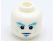 Part No: 3626cpb2562  Name: Minifigure, Head Blue Eyebrows and Goatee Pattern - Hollow Stud (BAM)