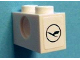 Part No: 3700pb02  Name: Technic, Brick 1 x 2 with Hole and Lufthansa Logo Pattern on Both Ends (Stickers) - Set 40146