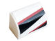 Part No: 37352pb008L  Name: Slope, Curved 1 x 2 x 1 with Black and Red Stripes Pattern Model Left Side (Sticker) - Set 76896