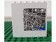 Part No: 3754pb13  Name: Brick 1 x 6 x 5 with Map and 'CITY' Pattern (Sticker) - Set 7035