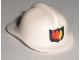 Part No: 3834pb01  Name: Minifigure, Headgear Fire Helmet with Fire Logo Pattern