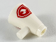 Part No: 39144pb01  Name: Minifigure, Utensil Megaphone Speaking Trumpet with Red Firefighter Logo Pattern