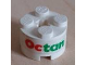Part No: 3941pb02  Name: Brick, Round 2 x 2 with Axle Hole with Octan Pattern (Sticker) - Set 6551
