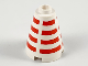Part No: 3942bpb01  Name: Cone 2 x 2 x 2 - Blocked Open Stud with Horizontal Red Stripes Pattern