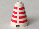 Part No: 3942p1  Name: Cone 2 x 2 x 2 with Horizontal Red Stripes Pattern