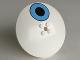Part No: 3961pb03  Name: Dish 8 x 8 Inverted (Radar) with Medium Blue Circle with Black Center Pattern