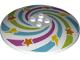 Part No: 3961pb09  Name: Dish 8 x 8 Inverted (Radar) with Swirls, Stars, and Lightning Bolts pattern