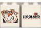 Part No: 4066pb003  Name: Duplo, Brick 1 x 2 x 2 with Halloween 2000 Brick or Treat Pattern (Legoland logo)