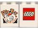 Part No: 4066pb125  Name: Duplo, Brick 1 x 2 x 2 with Halloween 2000 Brick or Treat Pattern (Lego Logo)