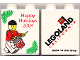 Part No: 4066pb139  Name: Duplo, Brick 1 x 2 x 2 with Happy Holidays 2004 Pattern