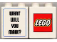 Part No: 4066pb163  Name: Duplo, Brick 1 x 2 x 2 with What Will You Make? and Lego Logo Pattern