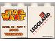 Part No: 4066pb205  Name: Duplo, Brick 1 x 2 x 2 with Star Wars Weekend 2005 Pattern