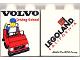 Part No: 4066pb237  Name: Duplo, Brick 1 x 2 x 2 with Volvo Driving School Pattern