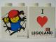 Part No: 4066pb245  Name: Duplo, Brick 1 x 2 x 2 with I Love Legoland Pattern