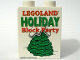 Part No: 4066pb327  Name: Duplo, Brick 1 x 2 x 2 with Holiday Block Party 2008 Pattern