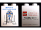 Part No: 4066pb335  Name: Duplo, Brick 1 x 2 x 2 with LEGO Store Master Builder Event Star Wars R2-D2 2009 Pattern