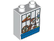 Part No: 4066pb338  Name: Duplo, Brick 1 x 2 x 2 with Hamster in Cage Pattern