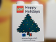 Part No: 4066pb355  Name: Duplo, Brick 1 x 2 x 2 with Happy Holidays Christmas Tree stores.lego.com 2009 Pattern