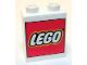 Part No: 4066pb356  Name: Duplo, Brick 1 x 2 x 2 with Lego Logo Large Pattern