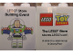 Part No: 4066pb361  Name: Duplo, Brick 1 x 2 x 2 with LEGO Store Building Event Toy Story Buzz Lightyear 2009 Pattern