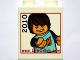 Part No: 4066pb366  Name: Duplo, Brick 1 x 2 x 2 with www.LEGOclub.com 2010 Max Extending Hand Pattern