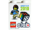 Part No: 4066pb377  Name: Duplo, Brick 1 x 2 x 2 with Lego Club August 14-15 2010 Pattern