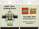 Part No: 4066pb380  Name: Duplo, Brick 1 x 2 x 2 with LEGO Store Building Event Toy Story Buzz Lightyear 2010 Pattern