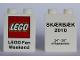 Part No: 4066pb381  Name: Duplo, Brick 1 x 2 x 2 with LEGO Fan Weekend 2010 Pattern