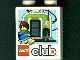 Part No: 4066pb382  Name: Duplo, Brick 1 x 2 x 2 with Lego Club and Max with Gateway Pattern (LEGO Universe Promotion)
