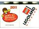 Part No: 4066pb392  Name: Duplo, Brick 1 x 2 x 2 with Happy 15th Birthday 2011 LegoLand Windsor Pattern