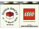 Part No: 4066pb393  Name: Duplo, Brick 1 x 2 x 2 with DUNIA BRICKS 13-14 Maret 2010 INDONESIA Pattern