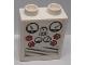 Part No: 4066pb502  Name: Duplo, Brick 1 x 2 x 2 with Gauges Pattern (Sticker) - Set 7843