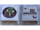Part No: 4066pb519  Name: Duplo, Brick 1 x 2 x 2 with Halloween 2015 Brick or Treat Frankenstein Legoland Florida Pattern