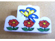 Part No: 4088pb02  Name: Brick, Modified 1 x 4 x 2 Center Stud Top with Butterfly and Flowers Pattern (Sticker) - Set 4165