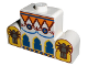 Part No: 4088px1  Name: Brick, Modified 1 x 4 x 2 Center Stud Top with Orient Arches, Minifigures Pattern