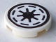 Part No: 4150pb002b  Name: Tile, Round 2 x 2 with SW Republic Pattern on White Background (Sticker)