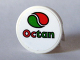 Part No: 4150pb035  Name: Tile, Round 2 x 2 with Octan Logo Pattern (Sticker) - Set 10184