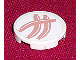 Part No: 4150pb051  Name: Tile, Round 2 x 2 with 3 Hot Dogs Pattern (Sticker) - Set 5895