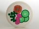 Part No: 4150pb055  Name: Tile, Round 2 x 2 with Hamburger, Peas, Cucumber Pattern (Sticker) - Set 5895