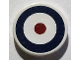 Part No: 4150pb126  Name: Tile, Round 2 x 2 with Blue Circle and Red Dot (British Roundel) Pattern (Sticker) - Set 7307
