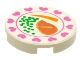 Part No: 4150px31  Name: Tile, Round 2 x 2 with Hearts, Steak, Peas, Carrot Pattern