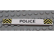Part No: 4162pb001  Name: Tile 1 x 8 with 'POLICE' and Black and Yellow Danger Stripes Pattern (Sticker) - Set 6676