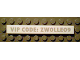 Part No: 4162pb037  Name: Tile 1 x 8 with 'VIP CODE: ZWOLLE09' Pattern