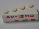 Part No: 41768pb06  Name: Wedge 4 x 2 Left with Red 'AV-12112' Pattern (Sticker) - Set 76049