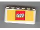 Part No: 4176pb10  Name: Windscreen 2 x 6 x 2 with LEGO Logo on Red and Yellow Background Pattern (Sticker)