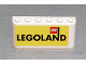 Part No: 4176pb11  Name: Windscreen 2 x 6 x 2 with Legoland on Yellow Background Pattern (Sticker)