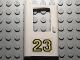 Part No: 4181pb014  Name: Door 1 x 4 x 5 Train Left with Yellow '23' Pattern (Sticker) - Set 5550