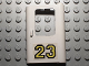 Part No: 4182pb014  Name: Door 1 x 4 x 5 Train Right with Yellow '23' Pattern (Sticker) - Set 5550