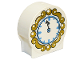 Part No: 41970pb12  Name: Duplo, Brick 1 x 3 x 2 Round Top with Clock Pattern